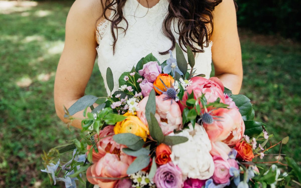 Colorful Vintage Estate Wedding