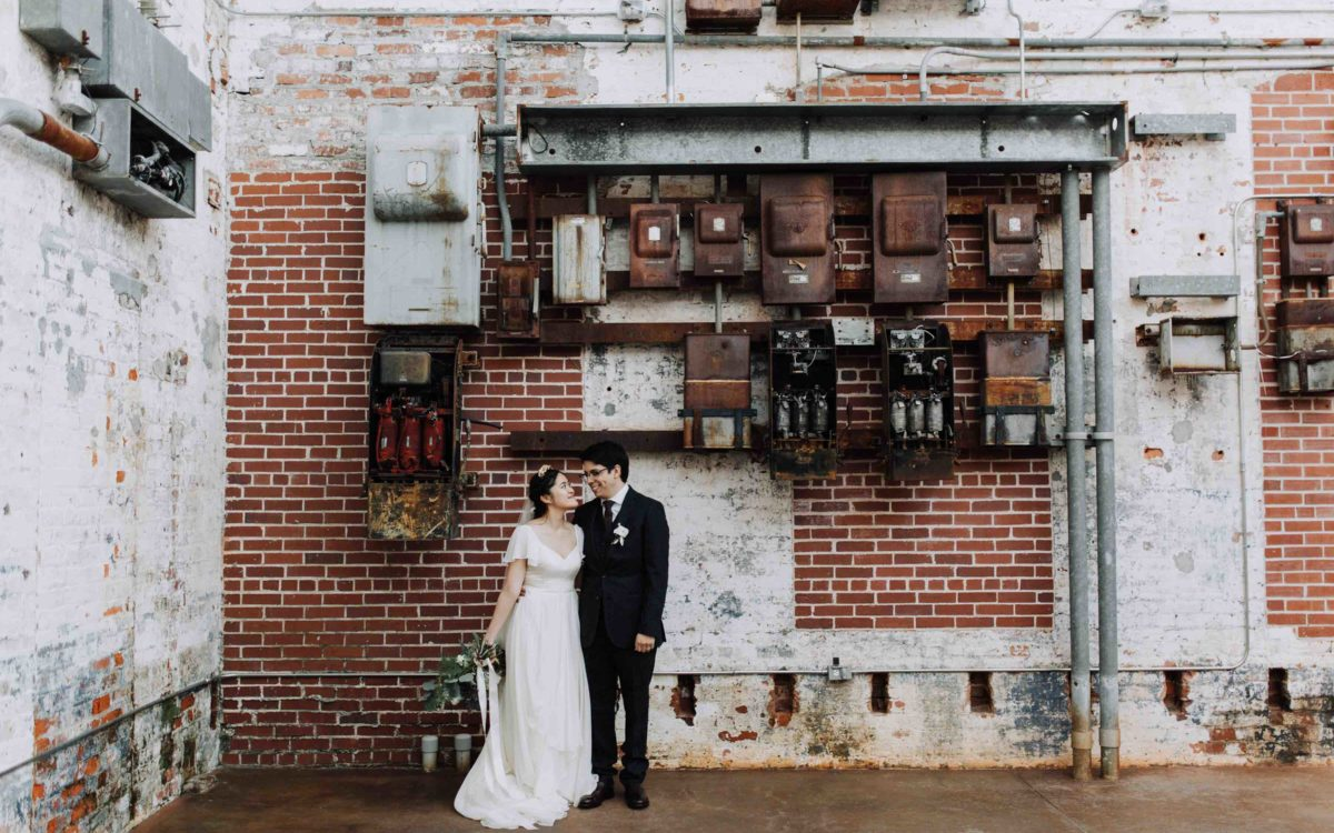 Soft Industrial Winter Wedding